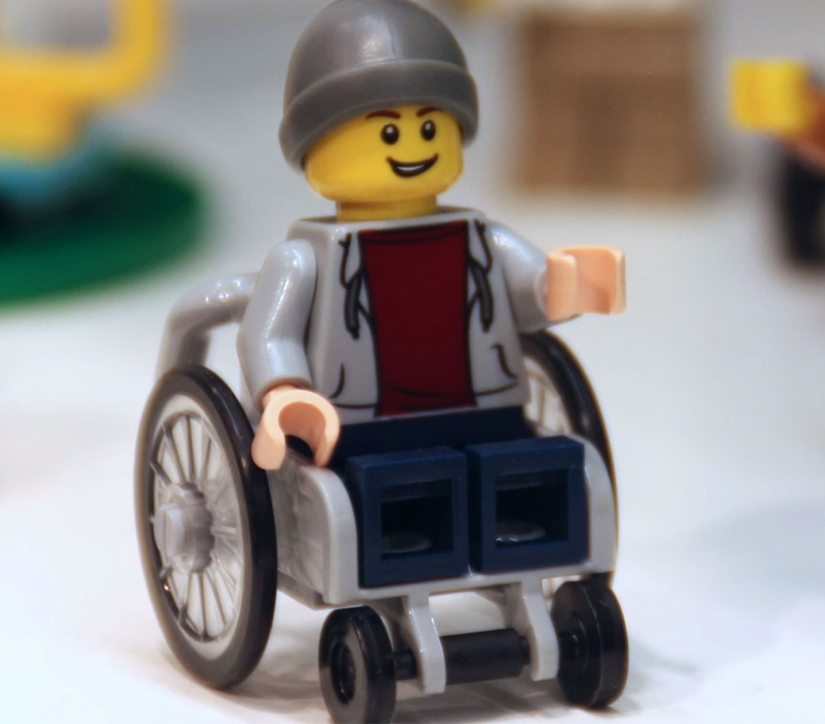 new Lego wheelchair minifigure