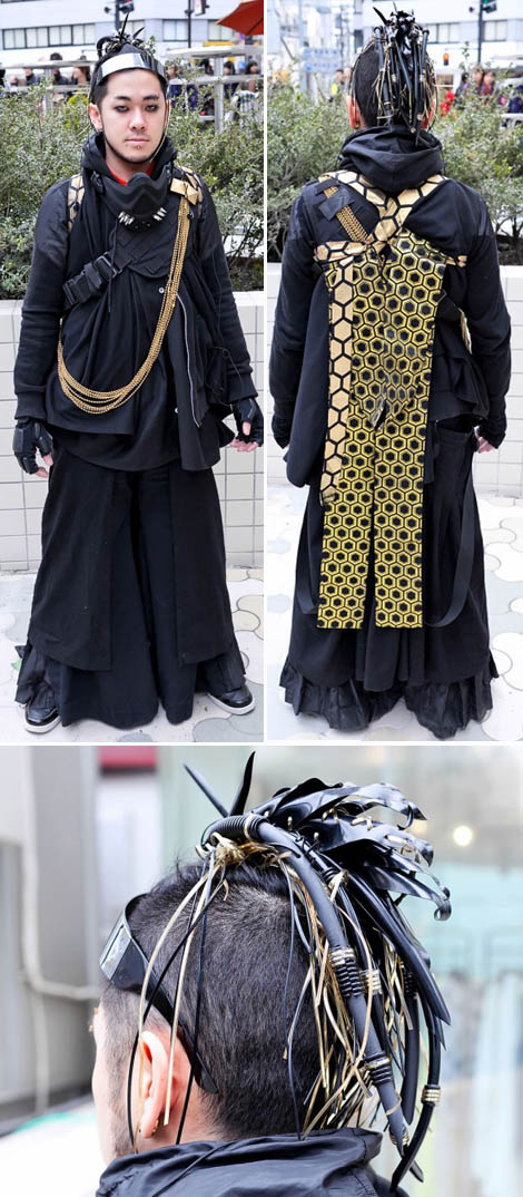 new samurai fashion cybergoth