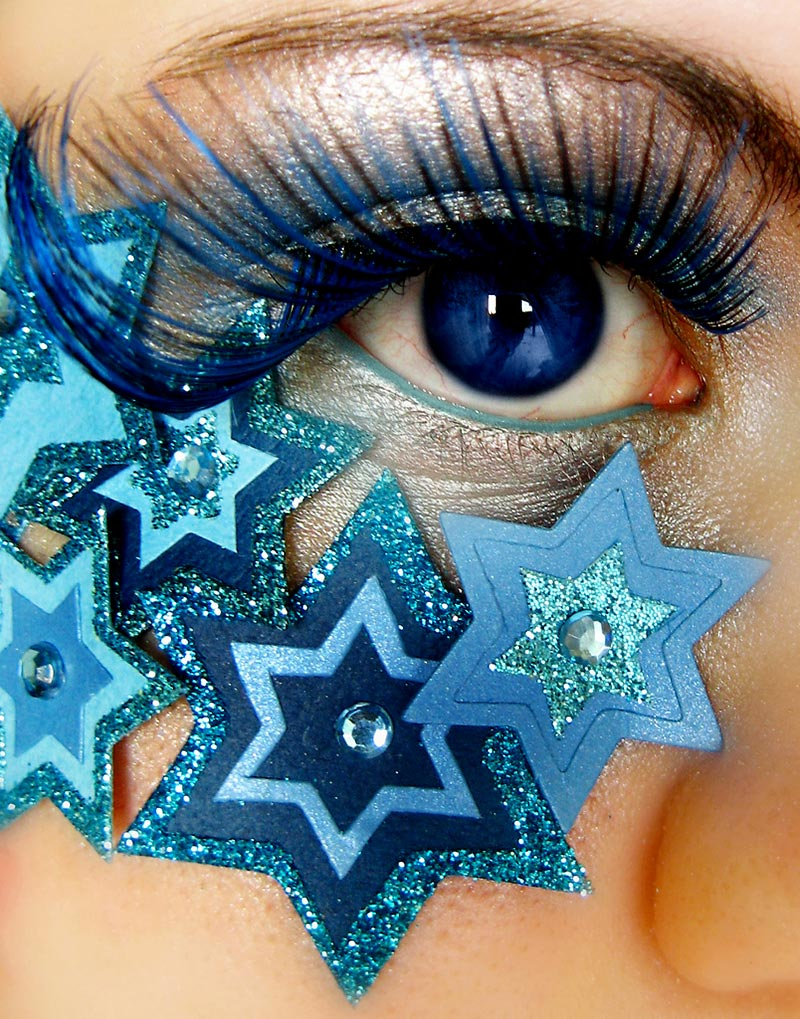 New Years Eve makeup blue stars