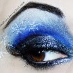New Year s Eve makeup silver blue stars
