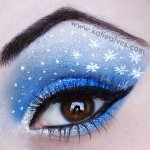 New Years Eve makeup white stars