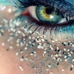 New Year s Eve party makeup blue silver glitter