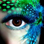 New Year s Eve party makeup feathers