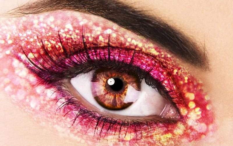 New Year s Eve party makeup glitter