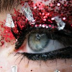 New Year s Eve party makeup red glitter
