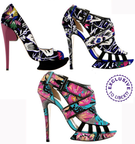 Nicholas Kirkwood Liberty UK Shoes Vs. Manolo Blahnik Liberty UK Shoes