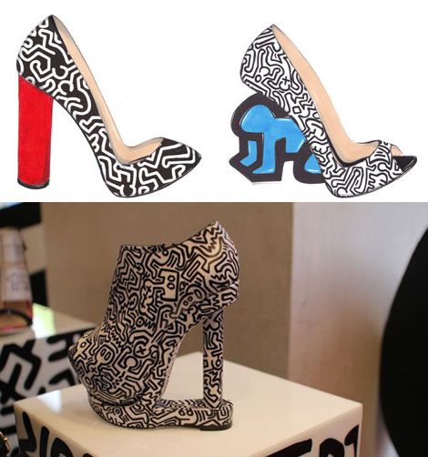 Nicholas Kirkwood Keith Haring graphic shoes