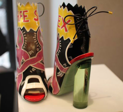 Nicholas Kirkwood Keith Haring shoes collection laceback booties