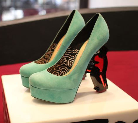 Nicholas Kirkwood Keith Haring shoes collection teal