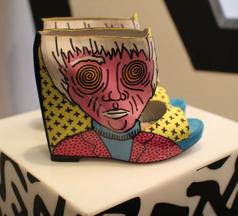 Nicholas Kirkwood Keith Haring shoes collection wedge booties