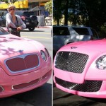 nicki minaj paris hilton pink bentley