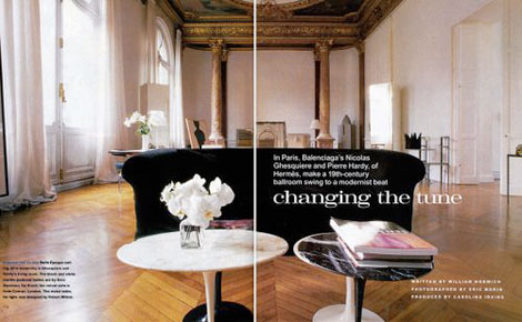 Nicolas Ghesquiere Paris Apartment interior