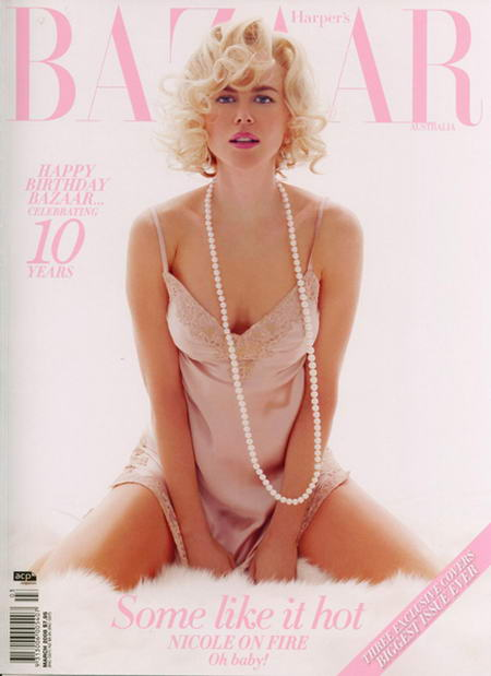 Nicole Kidman on the Cover of Australian Harper's Bazaar
