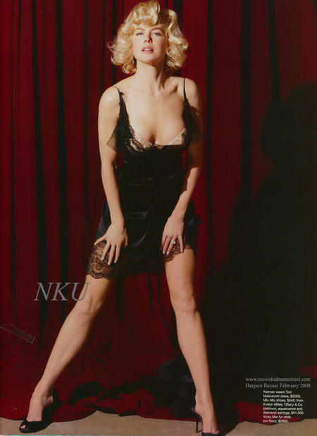Nicole Kidman as Marilyn Monroe for Harper's Bazaar Anniversary Issue