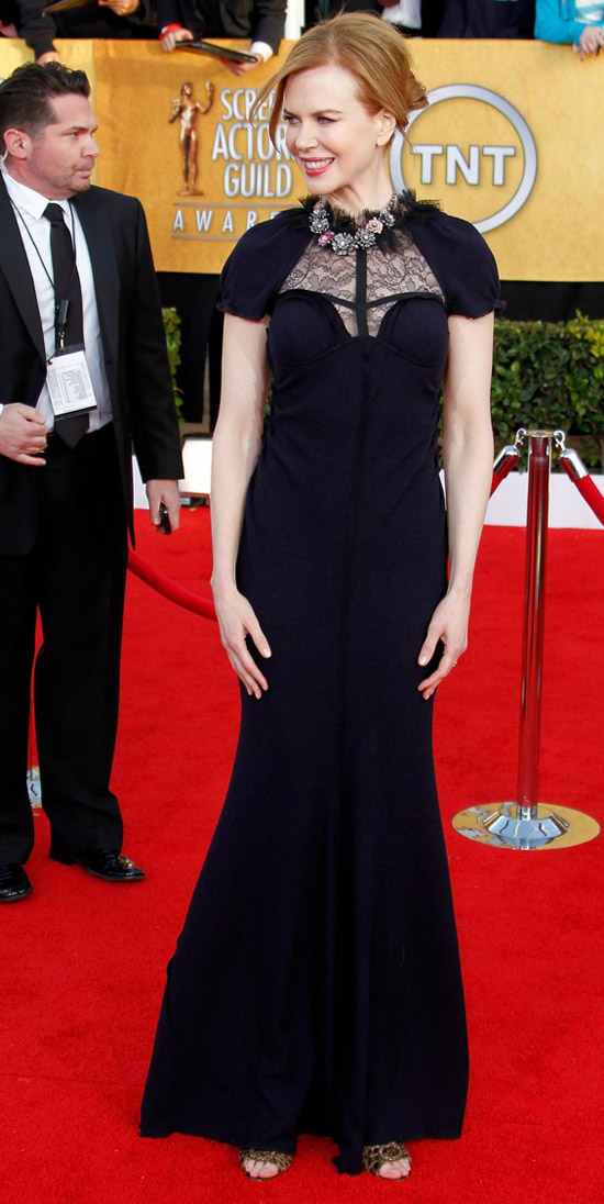 Nicole Kidman Black Nina Ricci dress 2011 SAG Awards 1