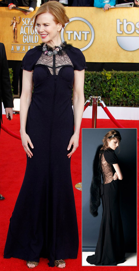 Nicole Kidman black Nina Ricci dress 2011 SAG Awards