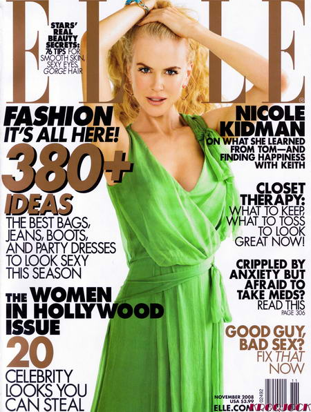 Nicole Kidman Elle US November 2008 cover