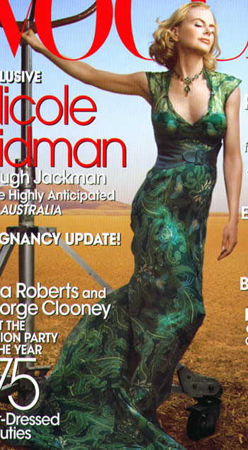 Nicole Kidman Green Dress Vogue July Cover