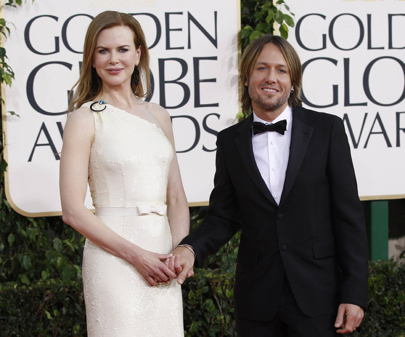 Nicole Kidman Keith Urban Golden Globes 2011 1