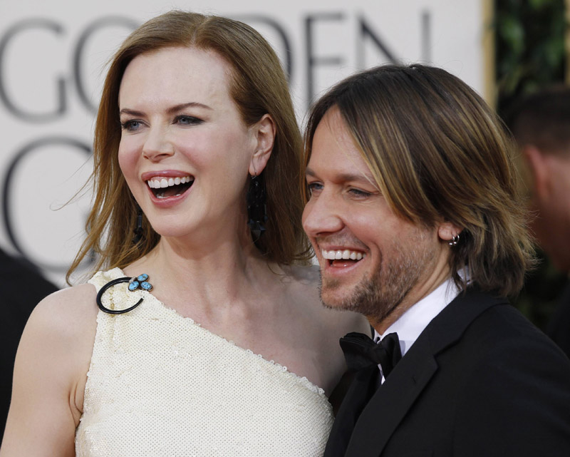Nicole Kidman Keith Urban Golden Globes 2011 2