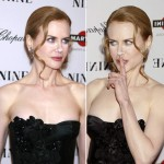 Nicole Kidman powdered nose Nine Premiere