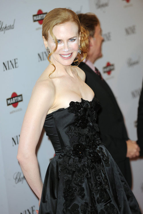 Nicole Kidman powdered nose Nine Premiere 6