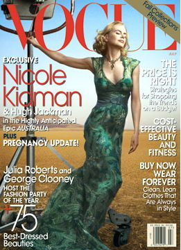 Nicole Kidman US Vogue July 2008 Cover