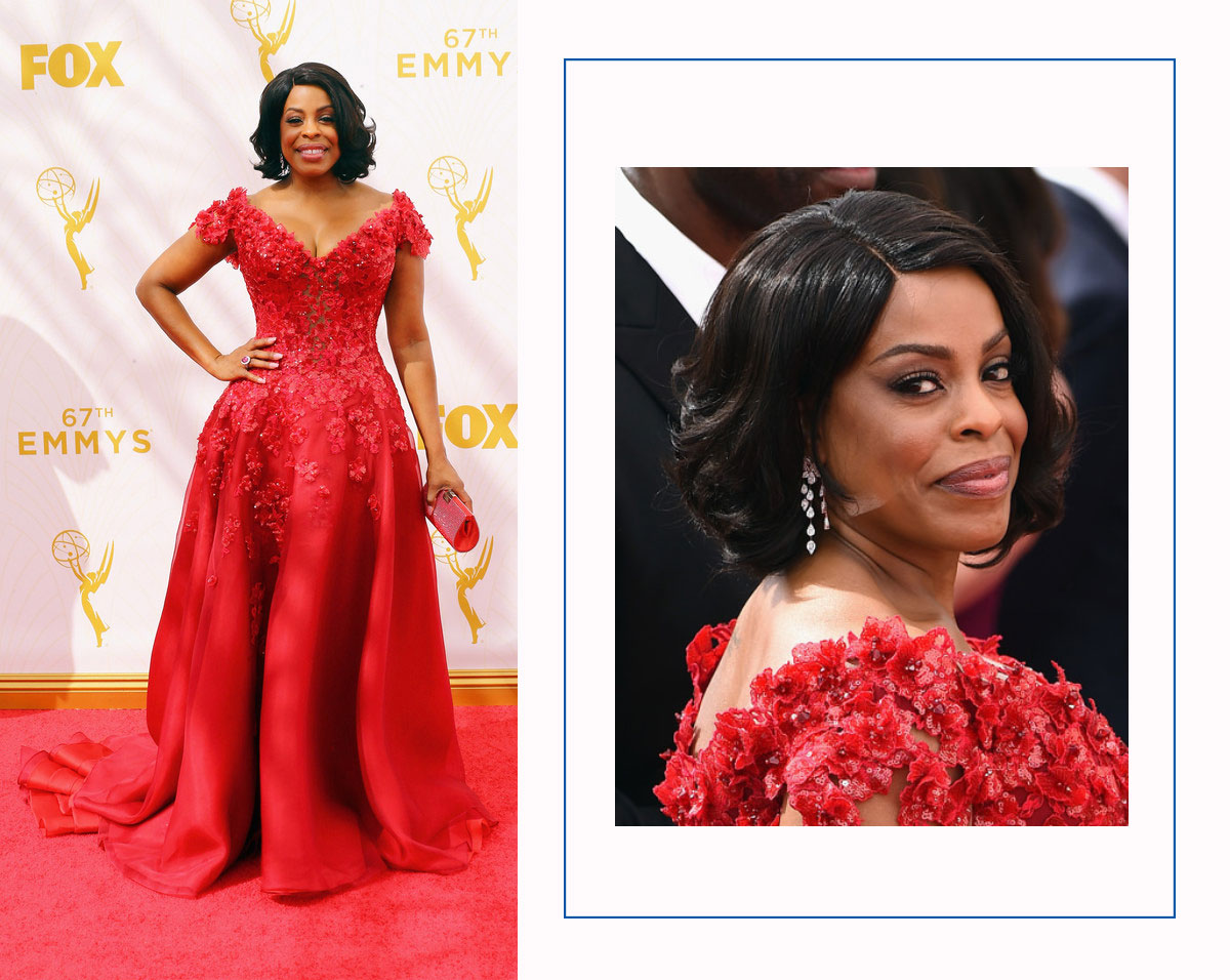 Niecy Nash 2015 Emmy Red Carpet Awards hairdo