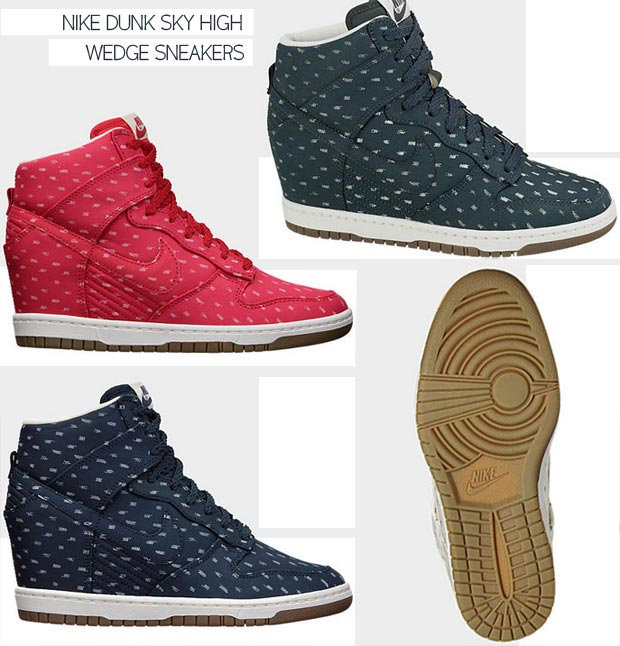 Nike Dunk Sky High print wedge sneakers