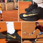 What's Written On Federer And Nadal Black Tennis Shoes?