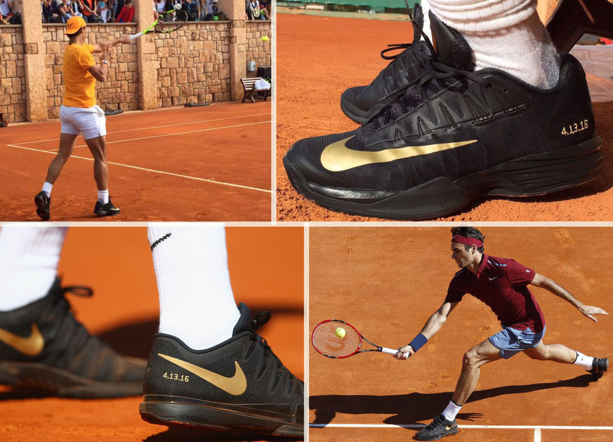 Volgarità dolce domestica  What's Written On Federer And Nadal Black Tennis Shoes? - StyleFrizz
