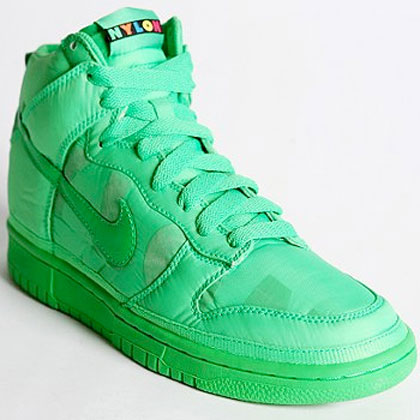 Nike Nylon Dunk High Sneakers green
