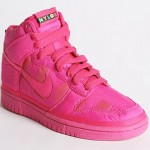 Nike Nylon Dunk High Sneakers pink