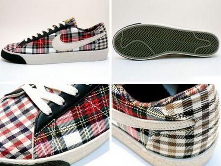 Nike Women Blazer Low Tartan Plaid Sneakers detail view