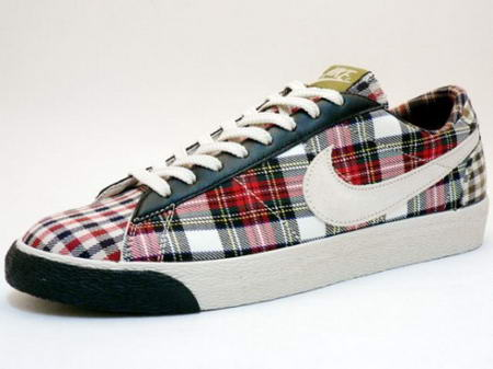 Nike Women Blazer Low Tartan Plaid Sneakers