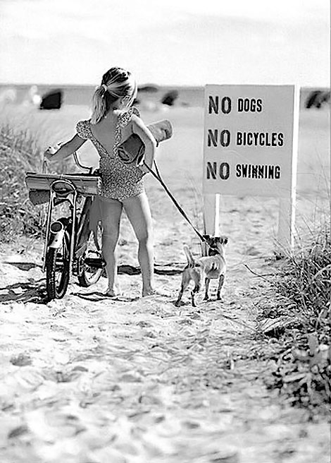 No Swimming no dogs no bike
