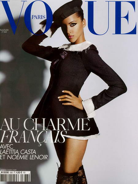 Noemie Lenoir Cover of Vogue Paris June July 2008