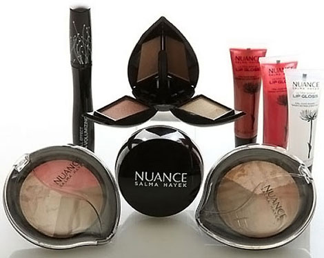 How About Salma Hayek's Nuance Beauty Line