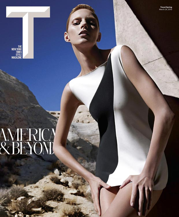 Seeing Double: Anja Rubik In Vogue Turkey And Times T Style Magazine