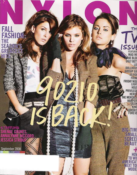Nylon September 2008 TV Issue 90210 is back cover