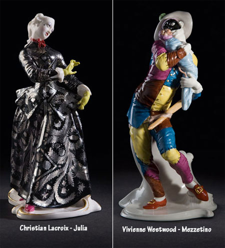 Nymphenburg Commedia Dell Arte Couture Edition Christian Lacroix Julia and Vivienne Westwood Mezzetino