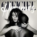 Officiel Hommes Kanye Kim Kardashian cover Knight