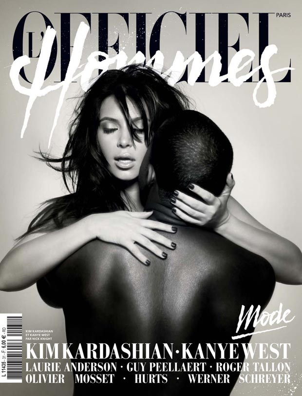 Cover Fail: Kim Kardashian Kanye West Faking It For L'Officiel Hommes