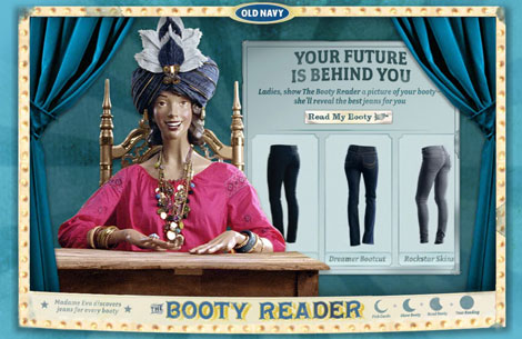 Old Navy Madame Eva Booty reader