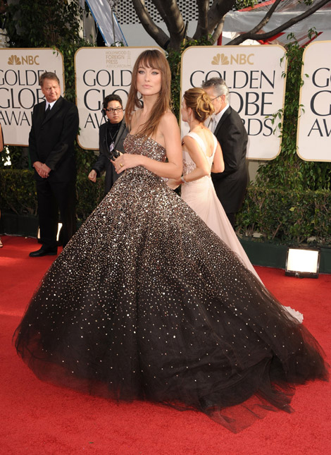 Olivia Wilde Marchesa dress Golden Globes 2011