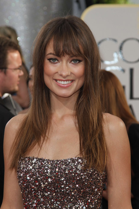 Olivia Wilde Marchesa dress hair makeup Golden Globes 2011