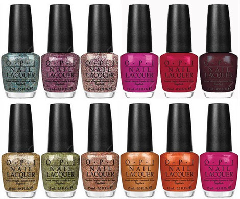OPI Winter 2010 Burlesque Nail polish collection shades