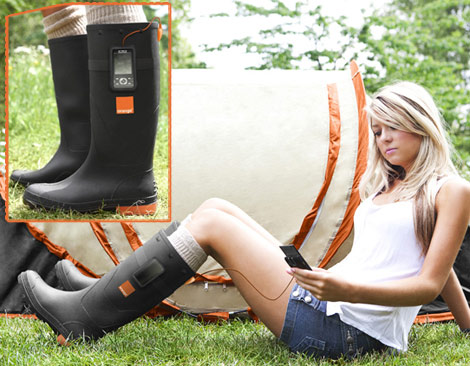 Would You Use Mobile Phone Charging Wellies?