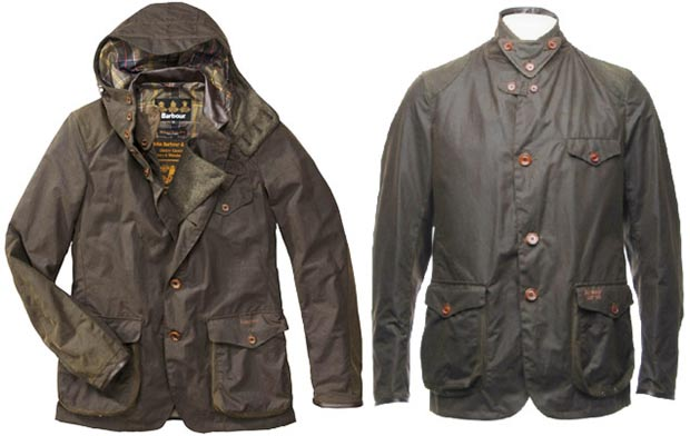 original Barbour Bond jacket left reissue right