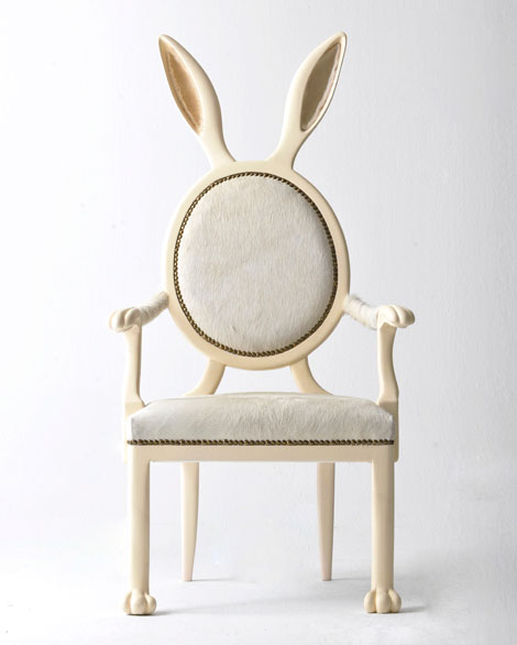 original bunny chair by Merve Kahraman